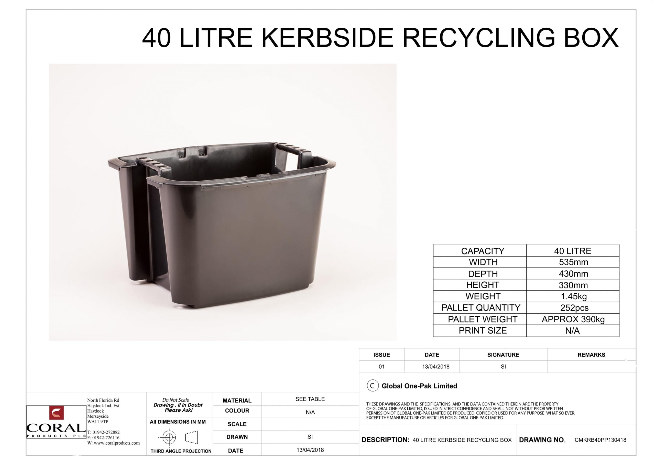 40 Litre Kerbside Recycling Box Data Sheet 1 scaled